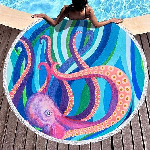 Rinvyintte - Cojín Redondo para la Playa o el Yoga, Muy ...
