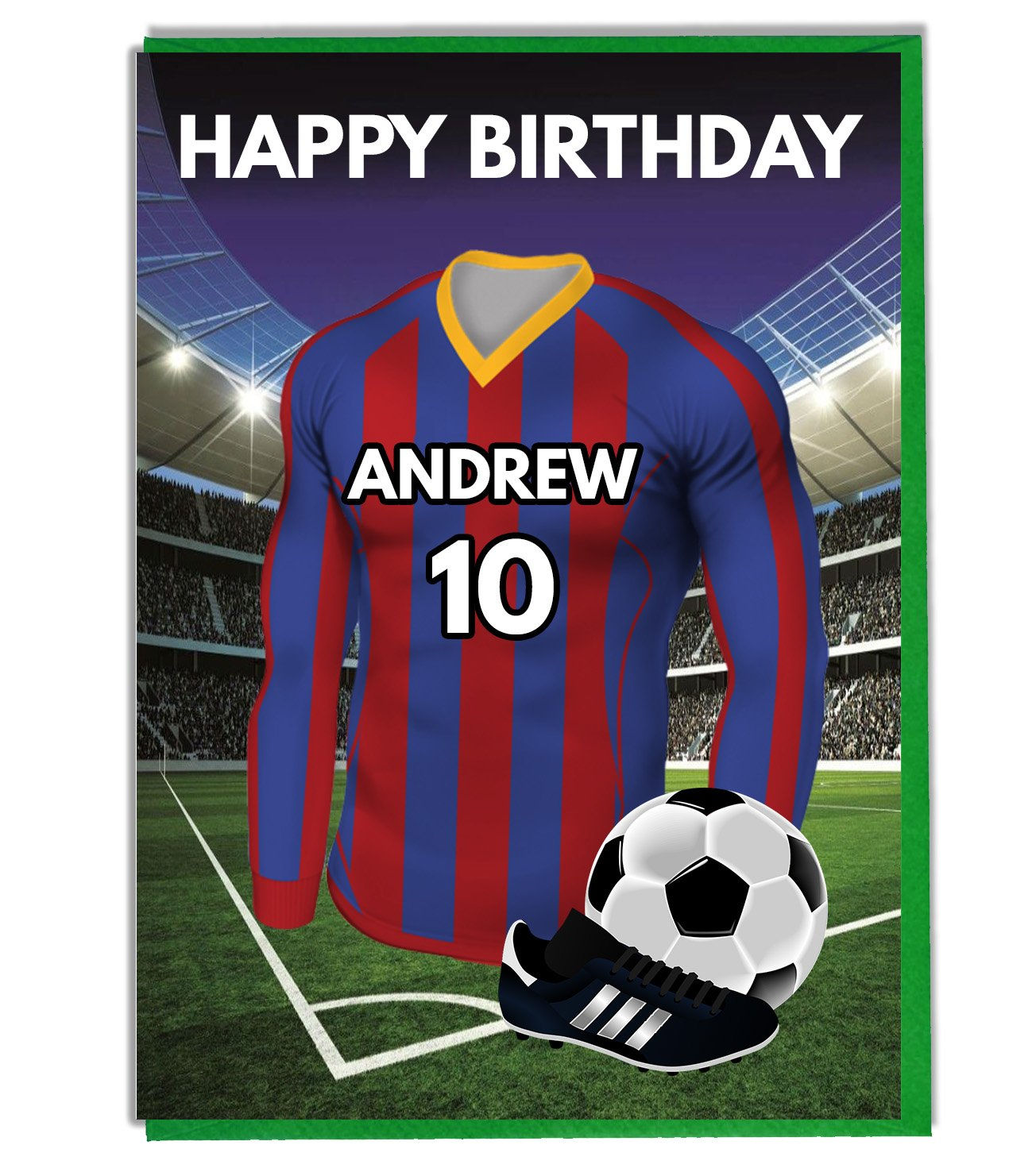 """Personalised Football Shirt 8/"""" Round Icing Cake Topper Party Hamilton Colours"""