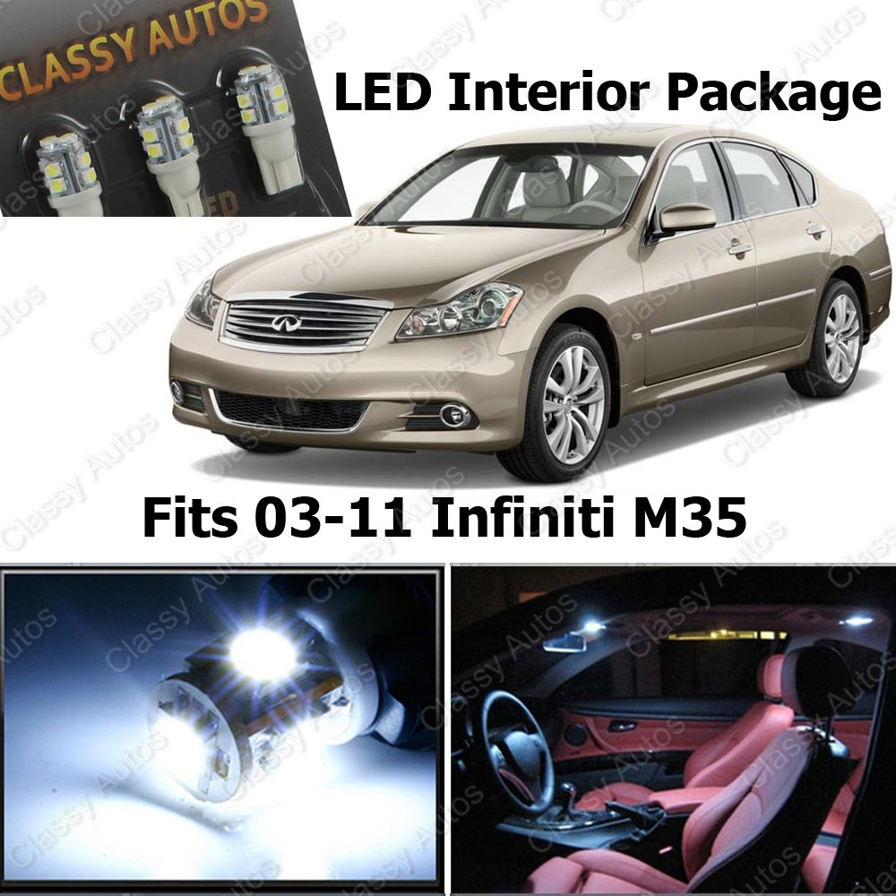 Amazon classy autos infiniti m35 m white interior led package amazon classy autos infiniti m35 m white interior led package 9 pieces automotive vanachro Image collections