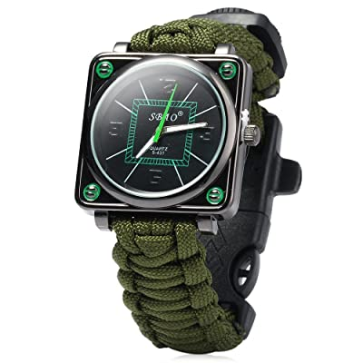 Paracord Outdoor Watch with Survival Compass