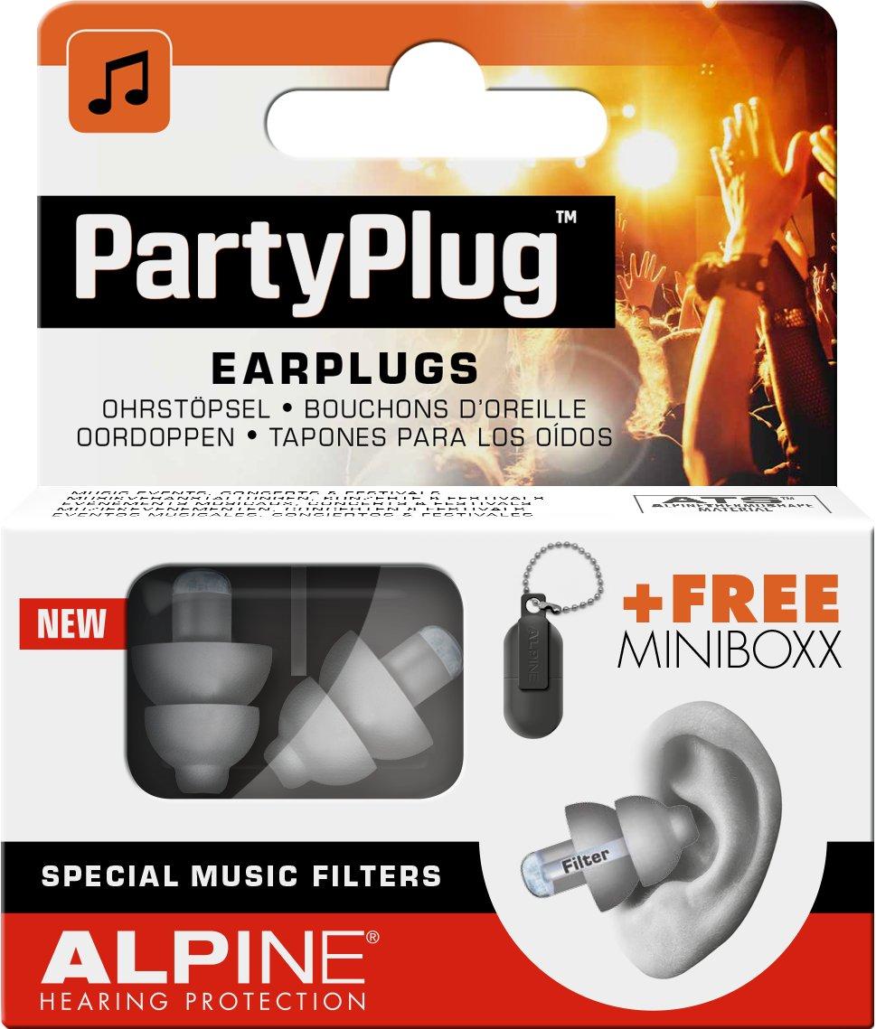 Alpine PartyPlug wei/ß Gratis Miniboxx Geh/örschutz f/ür Musik Konzerte /& Disco