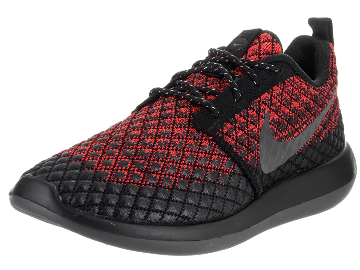 - NIKE Roshe Two Flyknit 365 Baskets noires 859535 600, Taille 46