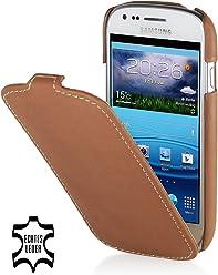 StilGut, housse en cuir pour Samsung S3Mini i8190, Old Style Camel Brown