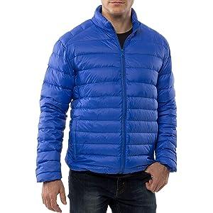 alpine swiss Niko Mens Down Jacket Puffer Coat Packable Warm Insulation & Feather Light Weight