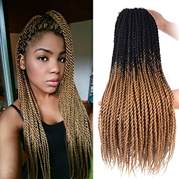 Amazoncom Synthetic Hair Senegalese Twist Crochet Braids Hair 5pcs