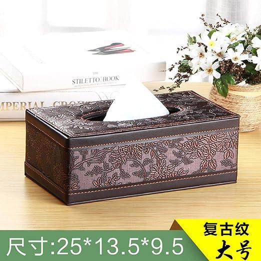 ROTOOY Caja De Pañuelos Caja De Pañuelos De Papel Cajas Caja De Pañuelos Caja De Pañuelos Bandeja para Automóviles Bandeja De Lino para Casa Simple Hotel @ F: Amazon.es: Hogar