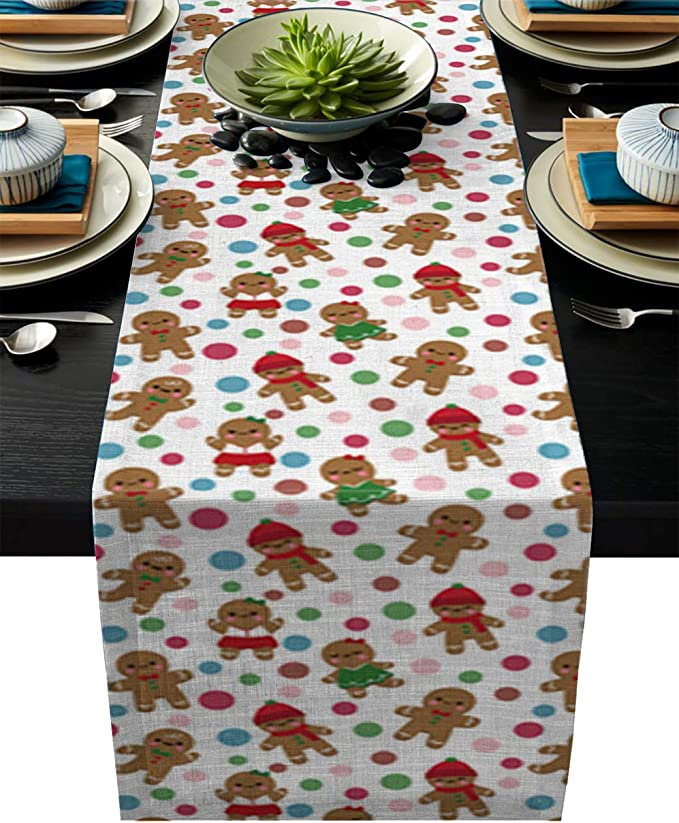 Christmas table home decor Eat /& Celebrate Table Runner seasonal decor tablewear holiday present housewarming gift