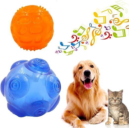 Pelota de juguete para perro Ulable, bolas de goma duraderas con ...