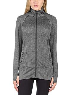 fa767d45b8f26 Mondetta Ladies Jacquared Hooded Knit Jacket Black Gray Medium ...