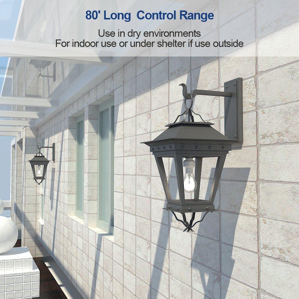 Dewenwils Remote Control Light Lamp Socket E26/E27 Bulb Base, Wireless Light Switch Kit, White (Programmable, 4 Sockets 2 Remotes, HRLSXXA Series) by DEWENWILS (Image #7)