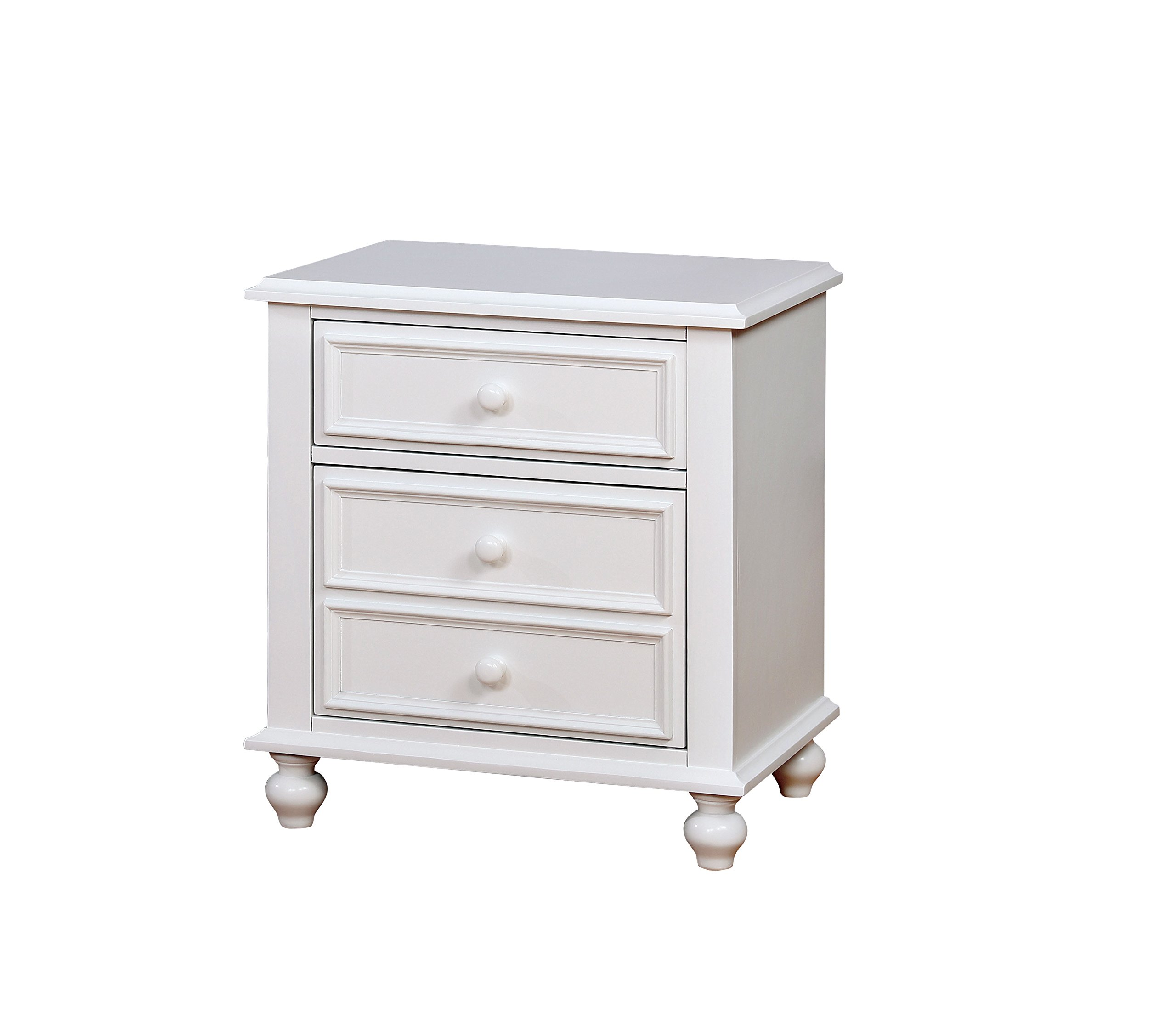 HOMES: Inside + Out IDF-7155WH-N Colderon Nightstand Childrens, White
