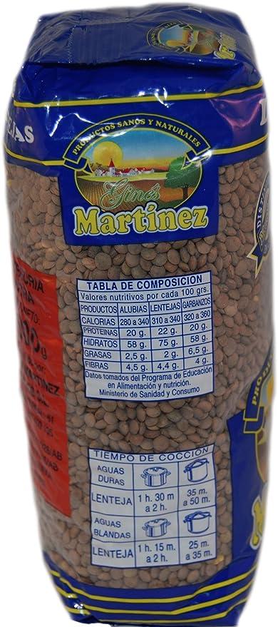 Ginés Martínez Lentejas Pardinas - 1 kg: Amazon.es ...