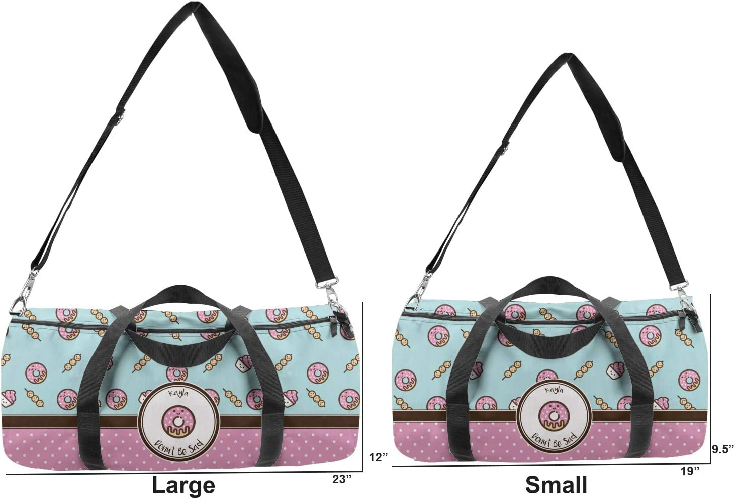 YouCustomizeIt Donuts Duffel Bag Personalized