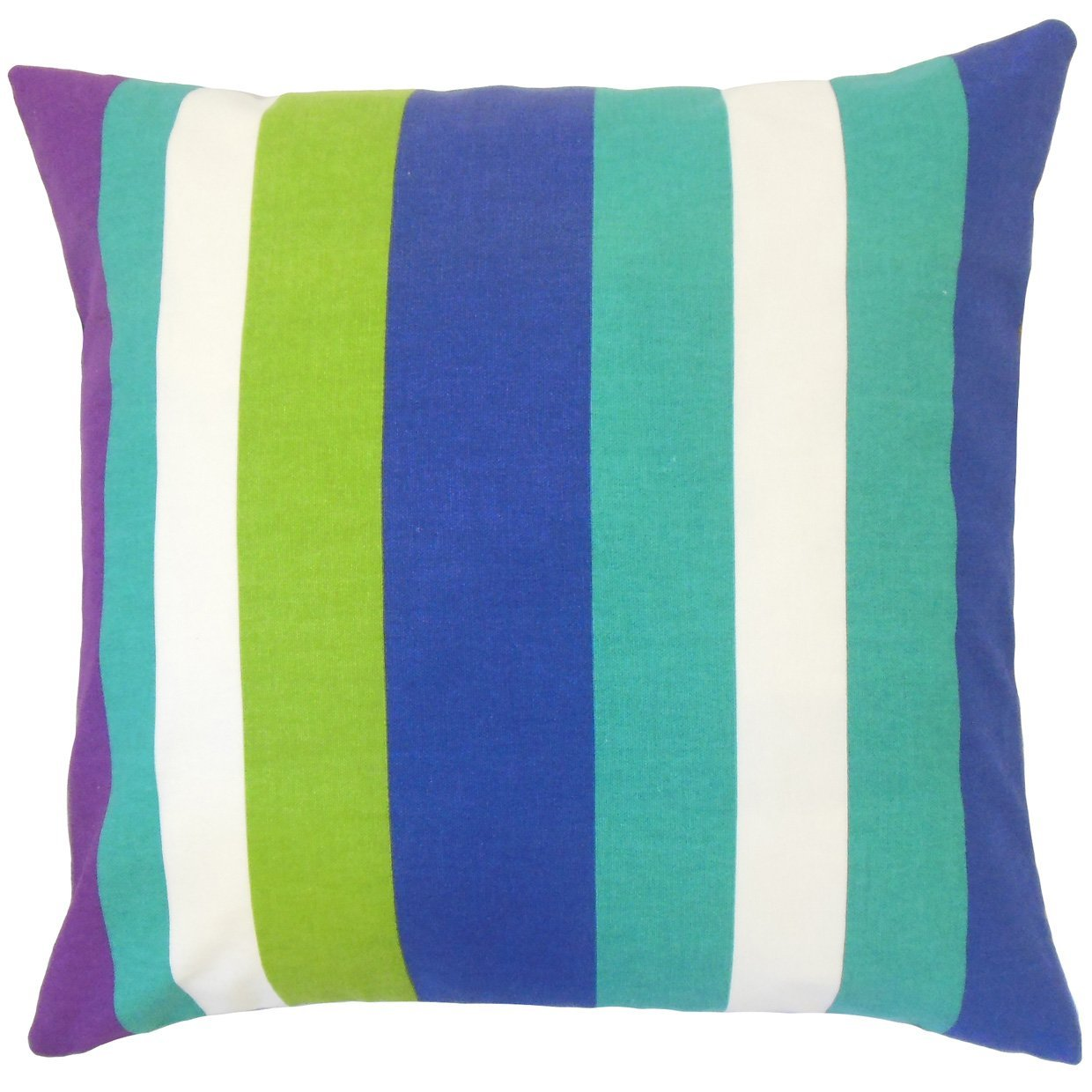 The Pillow Collection Gainell Stripes Bedding Sham Blast Euro//26 x 26