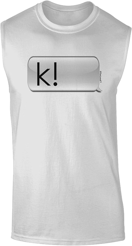 TooLoud Table Flip Text Bubble Dark Muscle Shirt