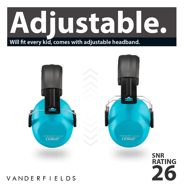 Vanderfields Cuffie Antirumore Bambini Protezione Udito Otoprotettori Riduzione di Rumore