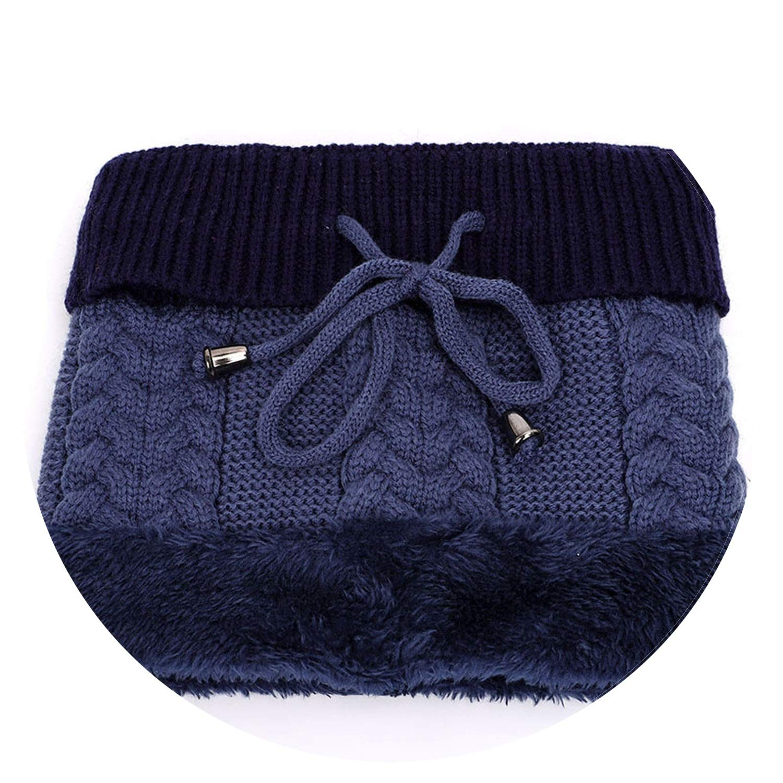 Mens Ski Hats Scarf Winter Knit Warm Glove Sets Mask caps Bib Mask Three-Piece Solid Color