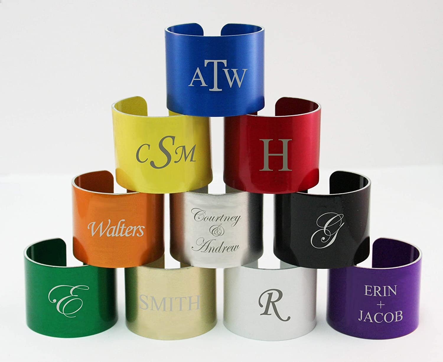 Personalized Napkin Rings And Holidayテーマナプキンリング   B01M1OM9PP