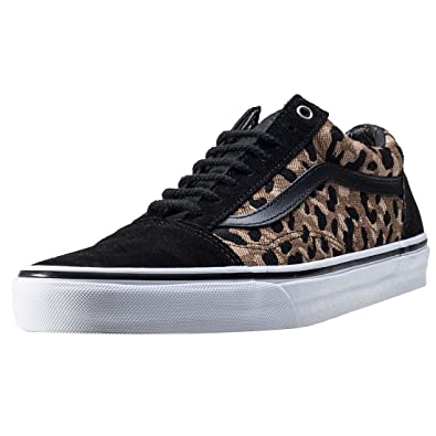 Vans Unisex Old Skool (Italian Weave) BK/Ambrgld Skate Shoe 4.5 Men US