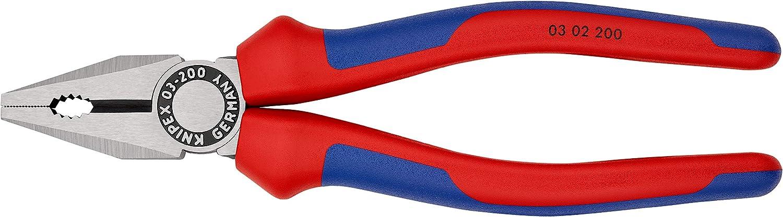 Knipex 03 02 200 Pince universelle 200 mm Avec poign/ées bi-mati/ère