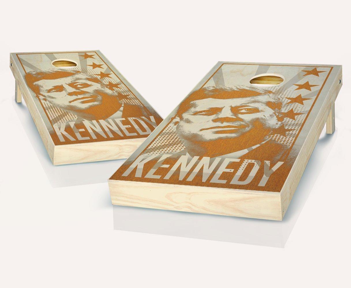 ケネディMaple Stained Cornhole Boards withのセット8 Cornhole Bags B07BH386Q2