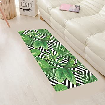 Ymraan 3d Boden Aufkleber Kreativ Grüne Blätter Diy Dekoration