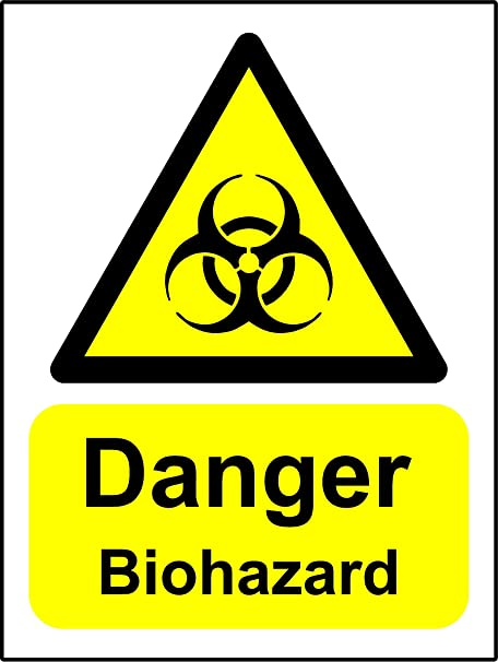 Warning Signs Danger Biohazard Safety Sign Self Adhesive Sticker