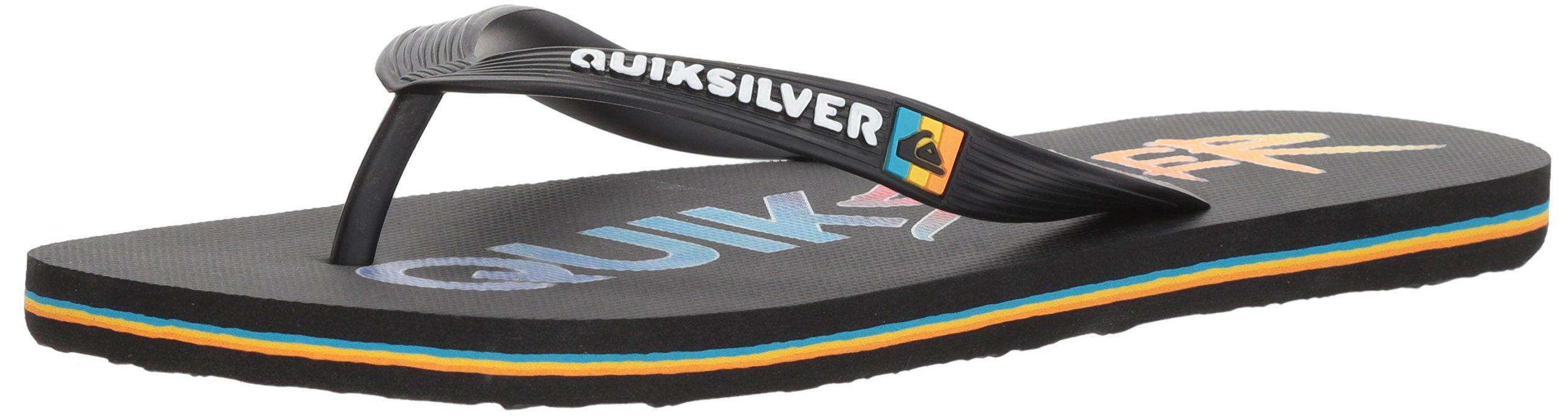 Quiksilver Men's Molokai Wordmark Sandal, Black/Red/Blue, 8 M US
