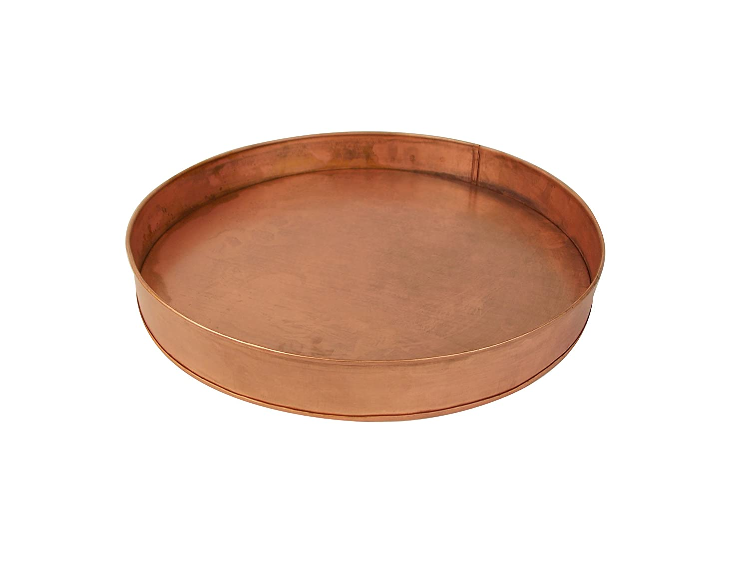 Craft Outlet Copper Round Tray, 12 x 12 x 1.5 Craft Outlet Inc T1380