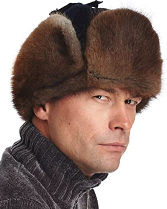 frr Canadian RCMP Muskrat Fur Jockey Trapper Hat at Amazon Men s ... 9e7a9210e06
