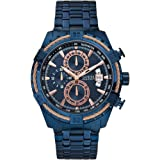 GUESS W0522G3,Men's Chronograph,Stainless Steel Case,Blue Tone