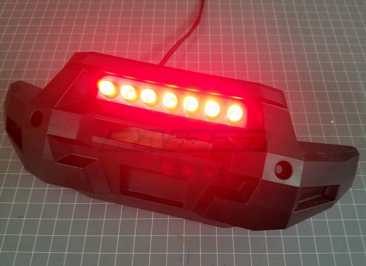 Front Bumper LED Lamp Lighting System (RED) for 1/5 Traxxas 6S 8S X-MAXX