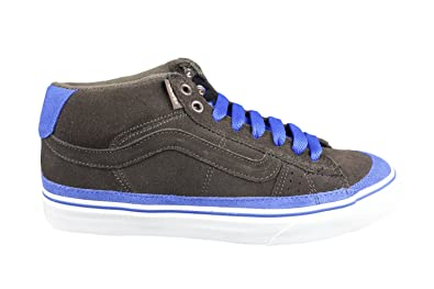 35b70ae75a Vans Mens Leather Coffee Brown Blue J-Lay Mid Johnny Layton Skate Shoes  Trainers