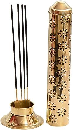 Buycraftty - Soporte para quemador de incienso (latón, 26 x 7,6 x 5,2 cm), color dorado: Amazon.es: Iluminación