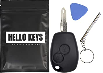 hello keys - Mando Carcasa Llave Dacia Duster Logan Sandero Express Renault Kangoo Clio.