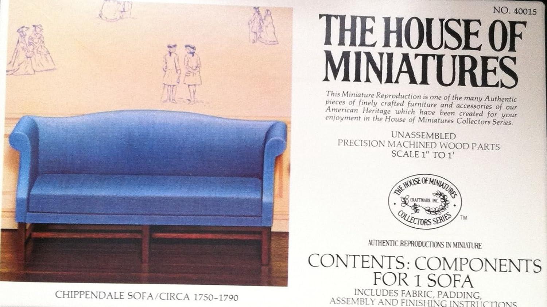 Amazon.com: Dollhouse Furniture Kit  Chippendale Sofa Circa 1750 1790  #40015 (The House Of Miniatures): Prints: Posters U0026 Prints