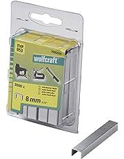 Wolfcraft 7032000 3000 Klammern breit, X-harter Stahl Typ 53 8 mm