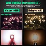 Marsauto 194 168 T10 2825 Red LED Light Bulbs for