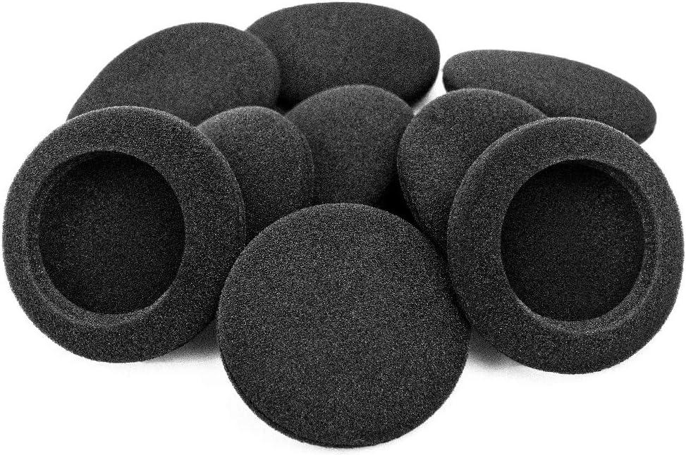 Ganbary Almohadillas Auriculares, Reemplazo Cojines Auriculares para Mayorías de Auriculares, Negro, 5 Pares, 50mm, Negro