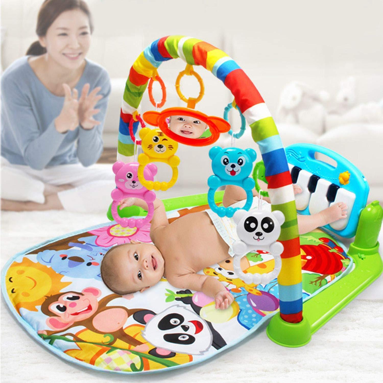 gr/ün FairytaleMM Multifunktions-Baby-Spiel-Matten-Kleinkind-Gymnastik-Spielzeug-Boden-Kriechen-Decken-Teppich mit Musik-Klavier-Pedal-Eignungs-Rahmen-Baby-Spielzeug
