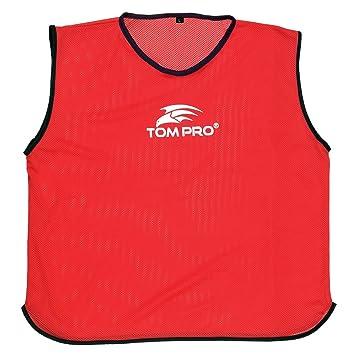 Tompro Airplus chalecos de malla de formación baberos de balón de fútbol  RUGBY rojo - talla única  Amazon.es  Deportes y aire libre 8f1c5fc1418ec