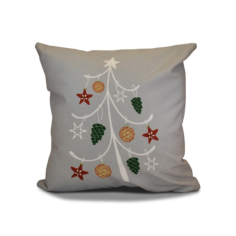E by design PHGN651BL29-26 26 x 26 inch, Decorative Holiday Pillow, Geometric Print, Aqua