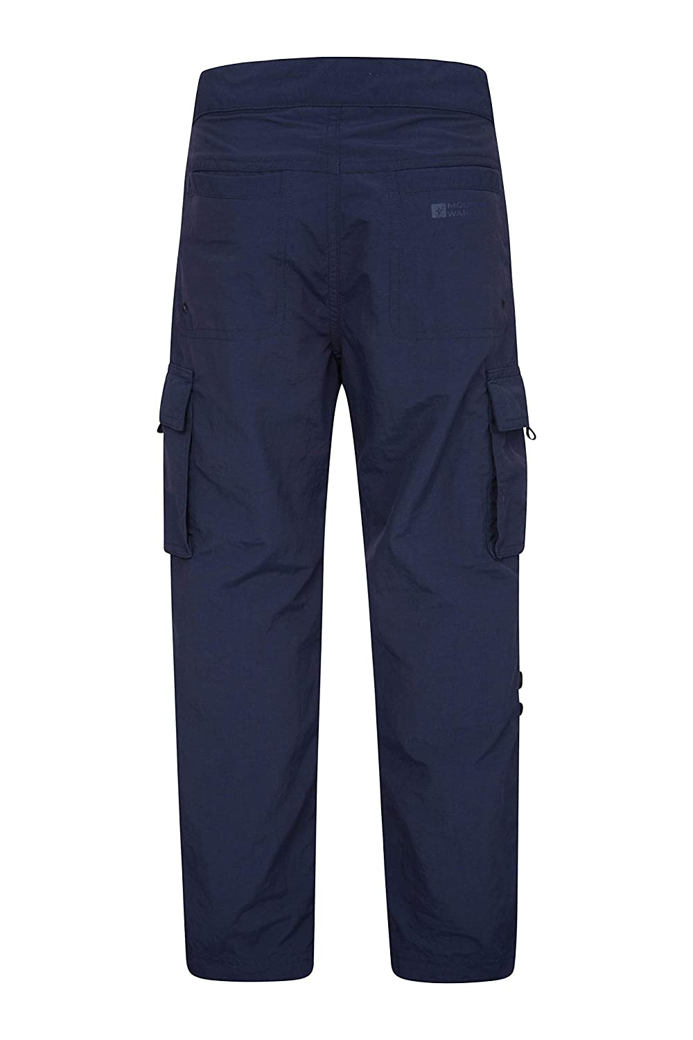 Mountain Warehouse Tab Detail Kids Pants Hiking Navy 9-10 Years for Walking