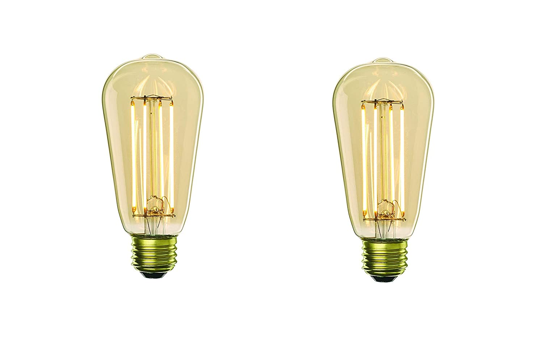 Medium//Standard Base 7W 2700K Bulbrite LED7ST18//22K//FIL-NOS//2 776609 LED7ST18//22K,//FIL-NOS//2 LED ST18 Light Bulb Antique