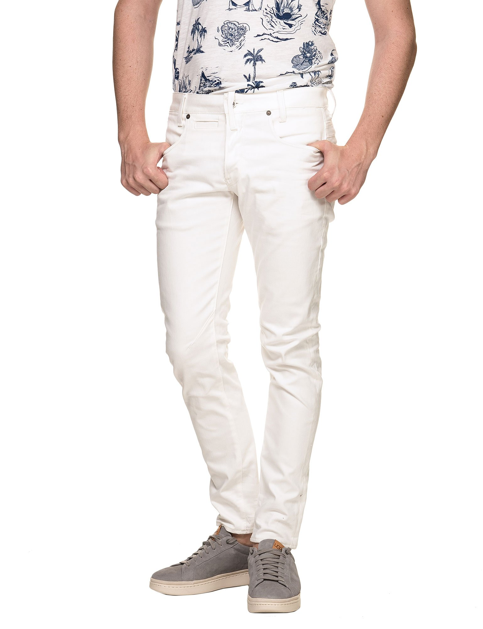 G-STAR Men's D-STAQ 5-Pkt Slim Pants White in Size 31W 32L