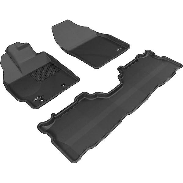 Black Classic Carpet 3D MAXpider Front Row Custom Fit Floor Mat for Select Lexus CT200H Models