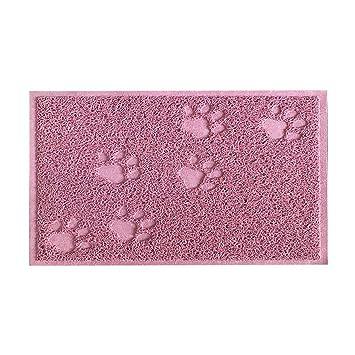 SUAVER Alfombras para Gatos Mat de Comida Cena de Plato PVC 30 x 40 cm (Lotus Pink): Amazon.es: Hogar