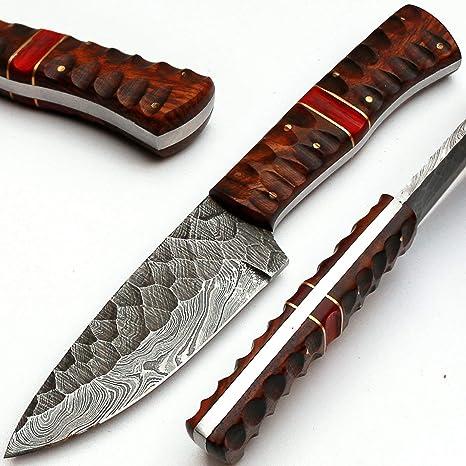 PAL 2000 MPNA 8670 Cuchillo de Hoja de Acero de Damasco ...