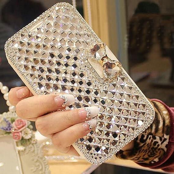 newest 199f7 29cd4 For Galaxy S6 edge Plus case,JANDM 3D Bling Crystal Rhinestone Leather  Diamond Rhinestone Luxury Flip Wallet Card Skin Case Cover For SAMSUNG  Galaxy ...