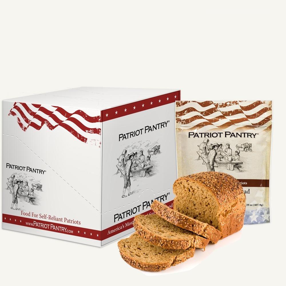 Patriot Pantry Honey Wheat Bread Case Pack (72 servings, 6 pk.) Bulk Emergency Storage Food Supply, Up to 10-Year Shelf Life